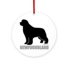 Newfoundland Silhouette Ornament (Round)