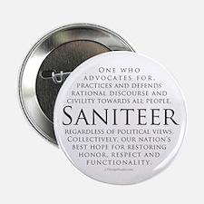 """Saniteer-white 2.25"""" Button"""