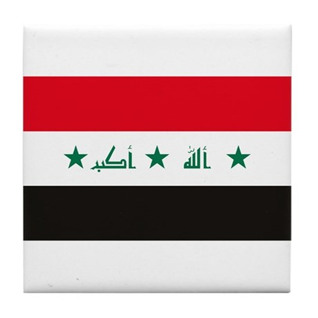 Iraq Flag Tile Coaster