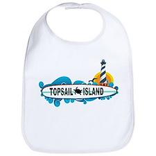 Topsail Island NC - Surf Design Bib