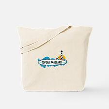 Topsail Island NC - Surf Design Tote Bag