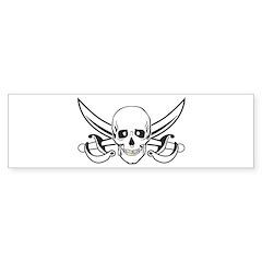Skull/Skeleton/Gold Tooth Bumper Sticker