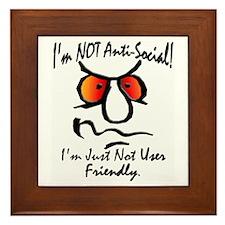 I'm Not Anti-Social Framed Tile