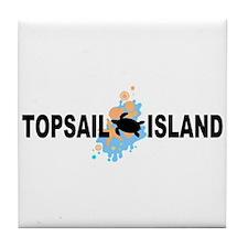 Topsail Island NC - Seashells Design Tile Coaster