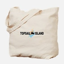 Topsail Island NC - Seashells Design Tote Bag