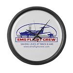EMS Flight Crew Fixed Wing Large Wall Clock