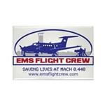 EMS Flight Crew Fixed Wing Rectangle Magnet