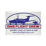 EMS Flight Crew Fixed Wing Rectangle Magnet (10 pa