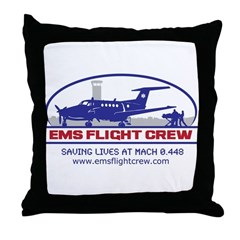 EMS Flight Crew Fixed Wing Throw Pillow