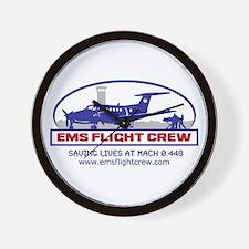 EMS Flight Crew Fixed Wing Wall Clock