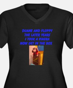 Unique Duane Women's Plus Size V-Neck Dark T-Shirt