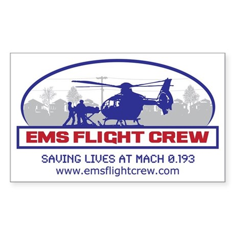 EMS Flight Crew - Rotor Wing Sticker (Rectangle)