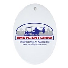 EMS Flight Crew - Rotor Wing Ornament (Oval)