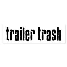 Trailer Trash Bumper Car Sticker