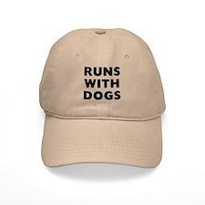 Runs Dogs Baseball Cap