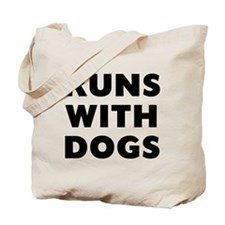 Runs Dogs Tote Bag