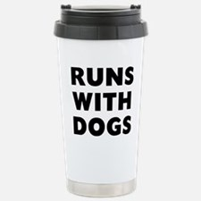 Runs Dogs Stainless Steel Travel Mug