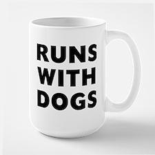 Runs Dogs Large Mug