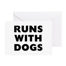 Runs Dogs Greeting Card