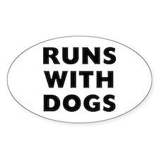 Runs Dogs Decal