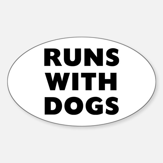 Runs Dogs Sticker (Oval)