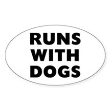 Runs Dogs Stickers