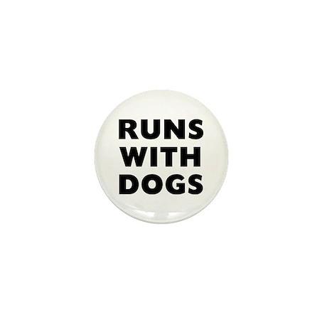 Runs Dogs Mini Button