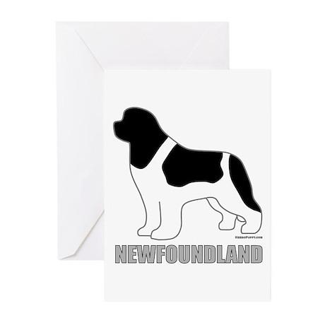 Landseer Silhouette Greeting Cards (Pk of 10)
