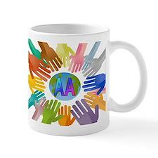 COLORED AA HANDS Mug