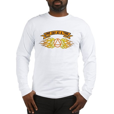 ONE DAY AT A TIME FLAMES Long Sleeve T-Shirt