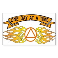 ONE DAY AT A TIME FLAMES Decal