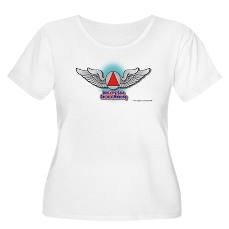 DON'T FLY SOLSO Women's Plus Size Scoop Neck T-Shi