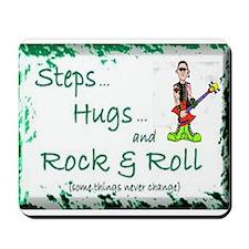 STEPS HUGS ROCKNROLL Mousepad