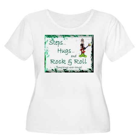 STEPS HUGS ROCKNROLL Women's Plus Size Scoop Neck