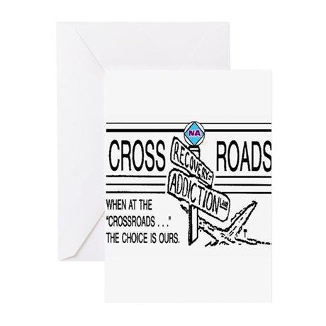 N A CROSSROADS Greeting Cards (Pk of 10)