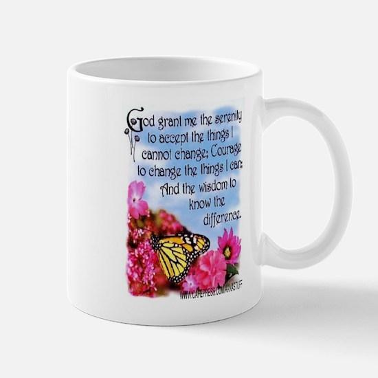 FLOWERED SERENITY PRAYER Mug