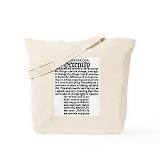 FULL SERENITY PRAYER Tote Bag