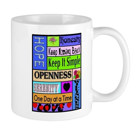 COLORED BLOCK SLOGANS Mug