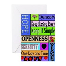 COLORED BLOCK SLOGANS Greeting Cards (Pk of 10)