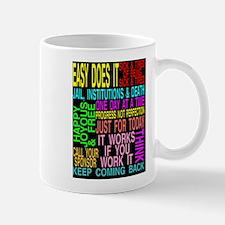 sayings with black background Mug