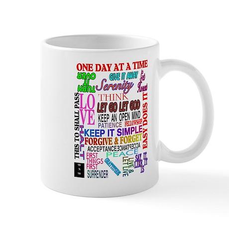 12 STEP SLOGANS IN COLOR Mug