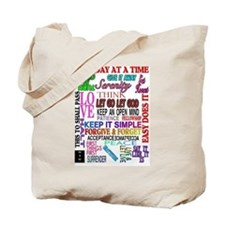 12 STEP SLOGANS IN COLOR Tote Bag