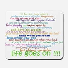 COLERED 12 STEP SAYINGS Mousepad