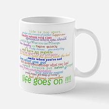 COLERED 12 STEP SAYINGS Mug