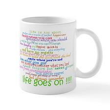 COLERED 12 STEP SAYINGS Small Mug