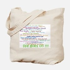COLERED 12 STEP SAYINGS Tote Bag