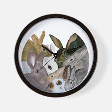 """""""It's...bunnies..."""" Wall Clock"""