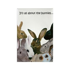 """It's...bunnies..."" Rectangle Magnet"