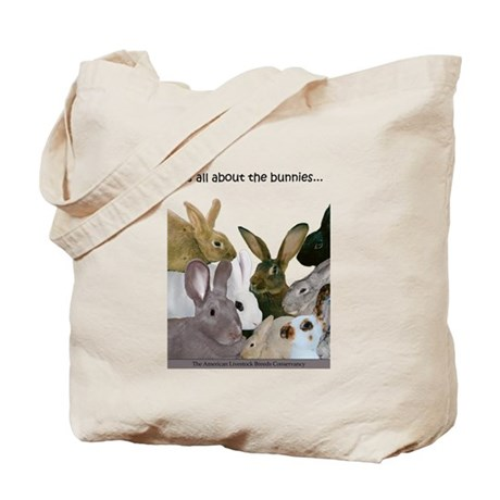 """""""It's all...bunnies..."""" Tote Bag"""