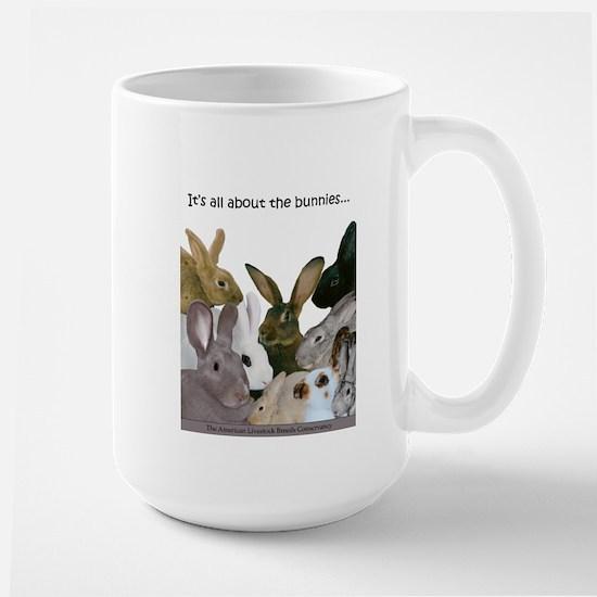"""It's...bunnies..."" Large Mug"